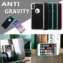 Anti Gravity Adsorption Sticky Magical Nano Selfie Plastic Cover Hard Case For iPhone XS Max XR X 8 7 6 Plus 5 Samsung S10 E S9 S8 S7 Note 9