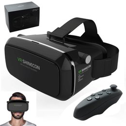 Wholesale New High quality VR D Glasses for inch Smart Phone Google Cardboard VR Shinecon D Virtual Reality Glasses mobile cell phone