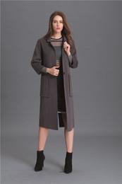 Gris / negro / rojo de lana de las mujeres cubre 2016 de alta calidad de la moda de las señoras de invierno abrigos botón único largo outwear mujeres capas desde solo botón abrigos negros fabricantes