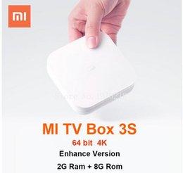 Wholesale 2016 Xiaomi Mi android Pro MIUI TV Box K HD G G Wi Fi wireless USB airplay DLNA modem