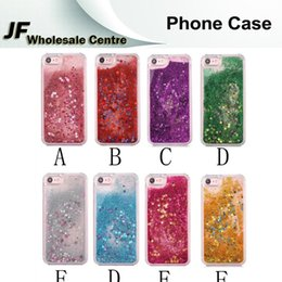 Wholesale For iphone plus Quicksand Phone Cases Glitter Powder Stars Bling PC Hard Back Cover For iphone plus s plus s Full Protector Shell