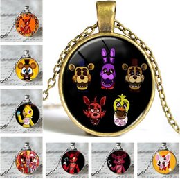 Wholesale Hot Jewelry distributor Five Nights at Freddy s FREDDY FAZBEAR Scrabble Tile Antique bronze Necklace