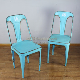 Wholesale Mining French country style retro do the old metal furniture bar stool chairs child armchair