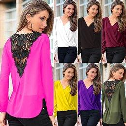 Chiffon long sleeve Pure color joker coat Fashion ladies blouse Chiffon long sleeve