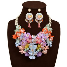Wholesale Jewelry Sets For Women Gold Plated African Beads Jewelry Set Party Accessories Necklace Earring Earrings Foliage Silver Plated Jewelry Sets