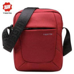 2016 New Shoulder Bag Messenger Bag Men 10 Inch Black Red Nylon Bag Messenger Small Brand Business Messenger Bags for Men