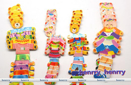 Creative puzzle infant toys   educational toys for children 2-3 years old, bear locker, 4 Bear Family Pack