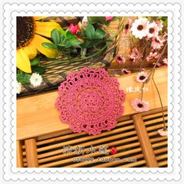 10cm round 30 pcs 2016 zakka home fashion cotton crochet lace mat by colored natural cotton handmade doilies for hot dish cup as novelty mat