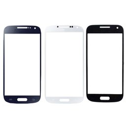 Front Touch Screen Outer Glass Lens Replacement Part for Samsung Galaxy S4 mini i9190 White Blue Black