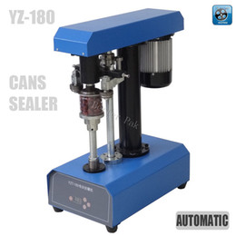 Wholesale YZT Desk top automatic container capping machine cans sealing machine paper cans PET plastic tank cover pot metal machine