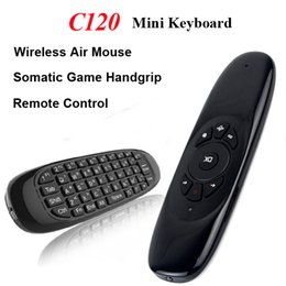 Wholesale Wireless Mini Keyboard Remote Control C120 Air Mouse Ghz Axis Gyroscope Sensor Somatic Game Handgrip for M8S MXQ CS918 Android TV Box