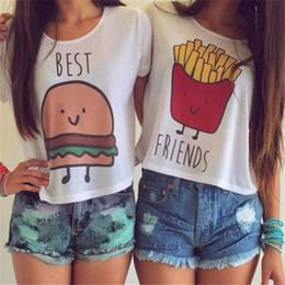 Wholesale Womens T shirts Fashion Summer Print Tshirts Best Friends T shirt Short Sleeve T shirts Women Clothes Camiseta Feminina