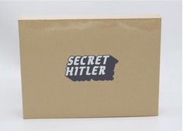 Wholesale New Arrival SECRET HITLER Games previously elected NEW president chancellor Card Kickstarter Edition Board Game Christmas gift DHL free ship