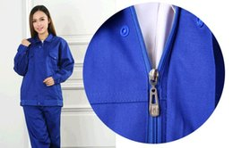Wholesale Permanent flame retardant cotton fabrics with thick welding work clothes Fire protective clothing Labor insurance clothing