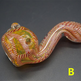 Wholesale Colorful Glass Spoon Pipes For Smoking Helix Shape with Single Bowl Mini Hand Blown Smoking Pipe Heady Glass Water Piping
