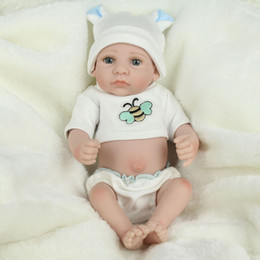 Realistic Reborn Baby Doll Nurse Mother Toys 28cm Cute Eye Opened Soft Silicone Vinyl Newborn Baby Boy Doll Kids Child Birthday Gift Toys