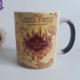 free shipping Potter mugs Marauders Map morphing tea mug novelty heat changing color transforming Coffee mug Cups Free shipping
