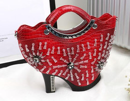 NEW style 2016 women's handbag fashion personality high-heeled bags shoulder bag