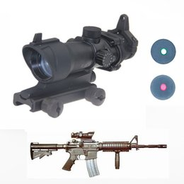 Wholesale Hot sell cheap Hunting Tactical Riflescope ACOG Type x32 Red Green Dot Rifle Sight Scope With mm Mount Airsoft WQM132