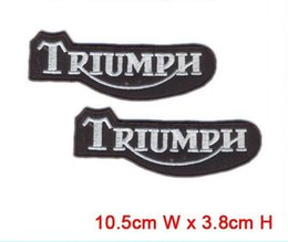 letters triumph patch iron on hot cut border use in cloth hat or bag can be custom embroidery factory in china patch