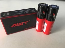 Wholesale vape box mod starter kit AWT mAh A high drain rechargeable battery for ecig mods box mod tank ecig batteries ecig mods
