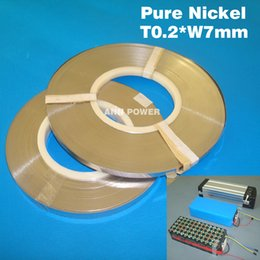 Wholesale 18650 cell pure nickel plate Thickness mm Width mm nickel belt for battery pack Nickel strip