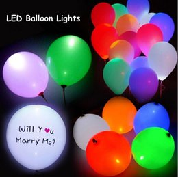 Promotion des vacances mini-lumières LED mini ballon lumières imperméables Poke Silicone Balloon nuit enfants kis pour fête de mariage de fête décoration de Noël Halloween