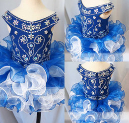 Cute 2019 Cupcake Kids Dress Girls' Mini Skirts Girls Pageant Gown off The Shoulder For Princess Formal Birthday Ball Gowns Real Image New