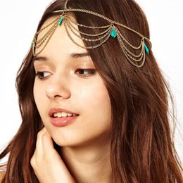 Wholesale dropshipping ebay amazon best seller hair Bohemia gold chain Hair Jewelry