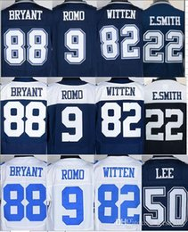Wholesale 88 Dez Bryant jersey Jason Witten Tony Romo Sean Lee emmitt smith jerseys size small S XL top quality