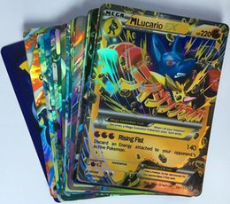 Wholesale 2016 Hot Sale Shiny ALL MEGA NO REPEATS English Poke EX Cards EX Charizard trading Card Game best gifts cards