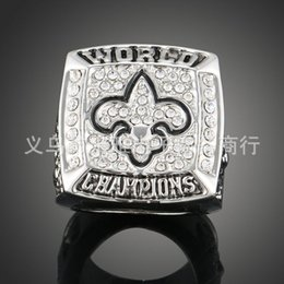 Wholesale 2009 New Orleans Saints Super Bowl championship rings Iris size Men Jewelry Statement Ring
