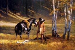 Wholesale Original US High tech HD Print Oil Painting Art On Canvas Hermon Adams Elk Hunter x36inch Unframed