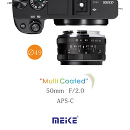Wholesale Meike MK E mm f Large Aperture Manual Focus lens mm fixed APS C lens For Sony Mirrroless cameras a6300