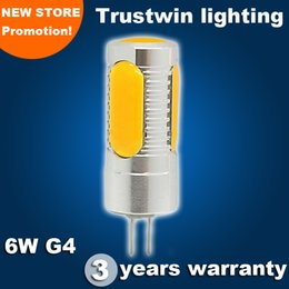 Global omnidirectional 360 degree LED COB G4 LED car light bulb DC 12V LED halogen mini corn light COB 6W light bulb