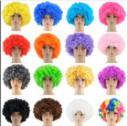 Wholesale Curly Afro Fancy Dress Wigs Funky Disco Clown Style Mens Ladies Costume s Hair CW002