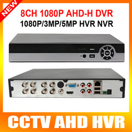 Wholesale H Full HD p CH AHD DVR Video Recorder With HDMI Output Support TB HDD Hybrid dvr NVR p h palyback ch cms p2p mobile view