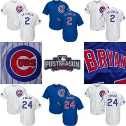 Wholesale 2016 Chicago Cubs Postseason Jersey Tommy La Stella Albert Almora Jr Chris Coghlan Dexter Fowler Men s Stitched Embroidery Jerseys