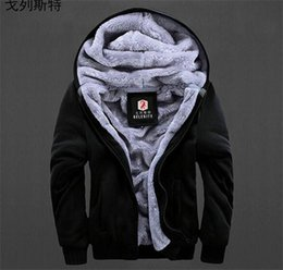 Wholesale Winter Hoodie Coats For Men Fashion Plus Size Long Sleeve Cashmere Hoodies Sweatshirts Men Design Casual Jackets Sweatshirt Black Blue PWY16