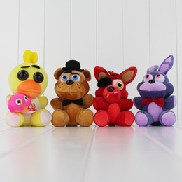 Game Five Nights at Freddy's Plush FNAF Bonnie Foxy Freddy Pendants Plush Toy Stuffed Soft Dolls 13-18cm Free Shipping