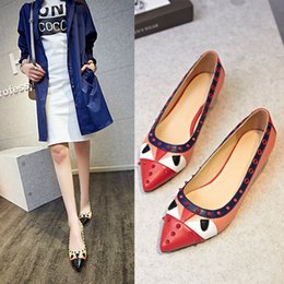 Women Shoes 2016 New The Monster Fashion High-heeled Shoes Pointed Toe Square 3cm Heels Lady Shoes Pumps