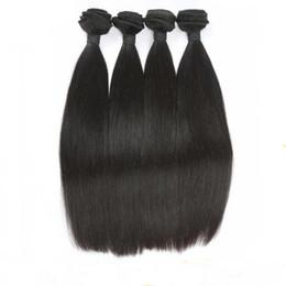 Wholesale 8A Moins cher pouces Extensions de cheveux Cheveux raides tissages brésiliens péruviens indiens Human Bundles Cheveux malaisiens Peut être Dye Ombre