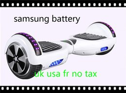 Samsung Battery Warehouse In Stock 2 Wheel Balance Scooter Electric Skateboard With Led light Hoverboard For Kids Adult