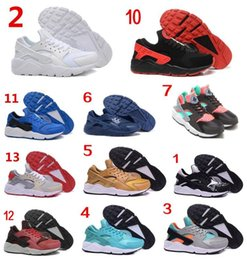 Wholesale Cheap Air Huarache Run Premium Black White Knit Men Women running shoes Original Air Huaraches For Men Women Shoes Size