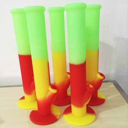 florescent light bong silicone water pipes silicone bongs colorful bong seven colors for choice water pipe silicone water pipe