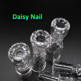Wholesale 2016 Daisy Domeless Quartz Nails With Female Male mm mm mm Quartz Banger Nail for glass bongs oil rigs dropshipping OEM ODM Accepted