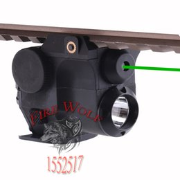 Wholesale 532nm Wavelength Tactical Hunting Green Dot Laser Sight Scope w LED Flashlight Combo Fit for mm Weaver Picatinny Rail