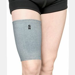 Wholesale Protective clothing manufacturers custom made Causeway bamboo spandex jacquard warm exercise thigh support
