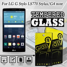 Tempered Glass Screen Protector For LG LS770 F70 G4stylus G stylo Mobile Phone Accessories with 10 in 1 packing