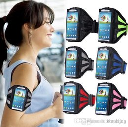 Wholesale Waterproof Sport Arm Band Case For Samsung Galaxy S4 S5 S6 Edge S7 Arm Phone Bag Running Accessory Band Gym Pounch Belt Cover